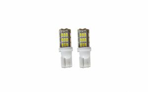 Set 2 x Bec LED pozitie T10 W5W,cu 42 led-uri - Alb Rece
