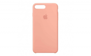 Husa iPhone 7   8 Portocaliu Carcasa Silicon Premium Slim Logo