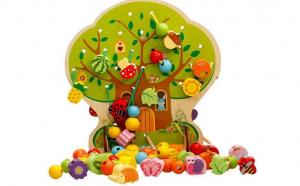 Joc Montessori snuruit - Pomul cu fructe