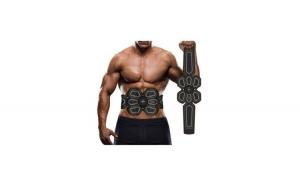 Centura stimulare musculara abdomen EMS, cu acumulator propriu