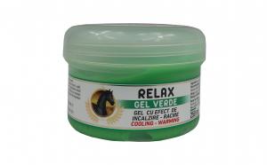 Relax gel verde cu efect de incalzire racire 250 ml