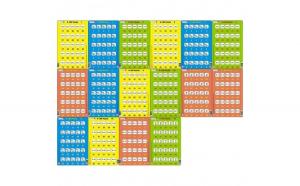 Set 16 Puzzle-uri 0 - 100, 25 Piese