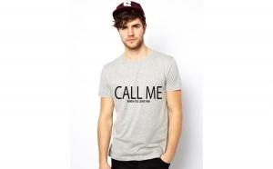 Tricou CALL ME when you leave him - Gri la doar 75 RON in loc de 150 RON