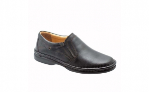Pantofi barbati Gitanos 11, piele naturala, negru, maro