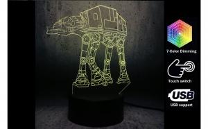 Lampa LED 3D Star Wars AT-AT