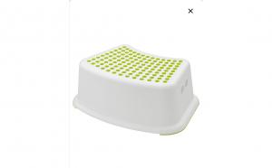 Taburet pentru copii, alb/verde