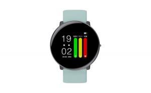 "Smartwatch, TND Wear Enigma, Super Slim, Termometru, Rezistent la apa IP67, Pedometru, Notificari, Sleep Monitor, ecran 1.3"" LCD, Magnetic charge, bratara extra, blue"