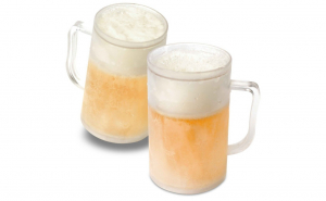 Set 2 x halba de bere cu pereti dubli