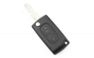 Citroen / Peugeot 206 - Carcasa tip cheie briceag cu 2 butoane si suport baterie