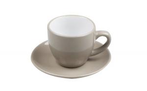 Set de 6 cesti de cafea cu farfurie