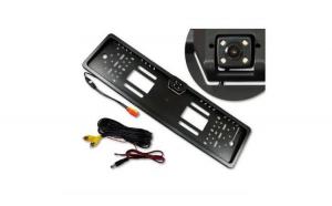 "Pachet Suport numar inmatriculare cu camera video marsarier + Display pliabil LCD TFT 4.3"" + Cadou Odorizant ""Areon"" Auto"