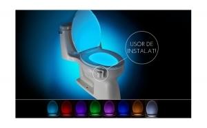 Dispozitiv LED pentru vasul de toaleta cu senzor infrarosu
