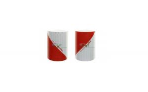 Set 2 Benzi reflectorizante adezive alb