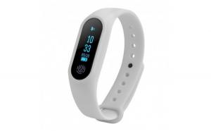 Bratara Fitness Techstar® M2 Alb  0.42 inch OLED  Alerte  IP67  Monitorizare Cardiaca  Bluetooth 4.0