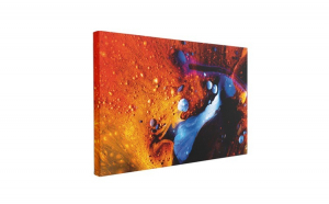 Tablou Canvas Abstract Red, 50 x 70 cm, 100% Bumbac
