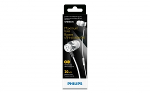 Casti Philips SHE5305WT, alb, la pretul de 79 RON in loc de 115 RON