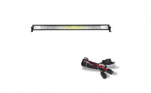 Led Bar auto 675w Curbat si kit cabluri releu buton, Spot si flood, 7 D, alimentare 12-24 V, 132 CM