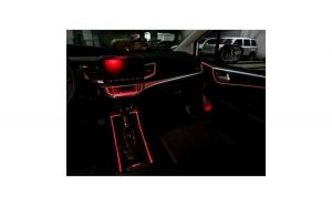Fir neon cu lumina ambientala auto 3M, rosu