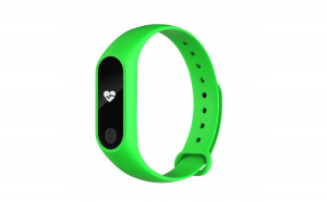 Bratara Fitness Techstar® M2 Verde  0.42 inch OLED  Alerte  IP67  Monitorizare Cardiaca  Bluetooth 4.0