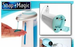Dozator pentru sapun lichid sau sampon cu senzor, la doar 55 RON in loc de 129 RON