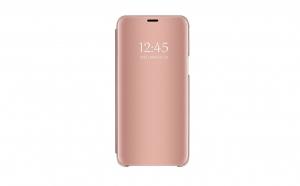 Husa compatibila Samsung Galaxy J4+ (J4 Plus) 2018 Book Clear View Standing Cover (Oglinda) Roz Rose Gold