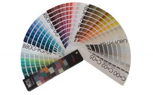 Paletar de culori tip evantai NCS, 1950