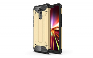 Husa Hybrid Armor Tough Rugged pentru Huawei Mate 20 Lite golden