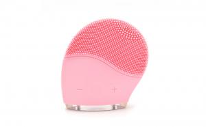 Perie de curatare faciala din silicon EGGO Brush, EGGO Skin, masaj si lifting, reincarcabil, rezistent la apa, waterproof, 8 viteze, Roz Pal/ Flamingo Pink