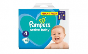 Pampers Nr.4 Active Baby Scutece