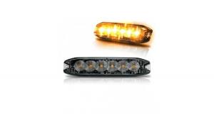 Stroboscop cu 6 LED Galben Hunter Slim 12v-24v
