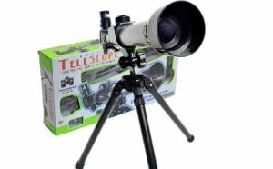 Telescop Refined, 3 lentile de marire (20x, 30x, 40x), trepied ajustabil, unghi de rotire 360 grade, busola, focus 170mm