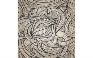 Tapet printat Abstract 026 1 x 5 m Hartie blueback fara adeziv