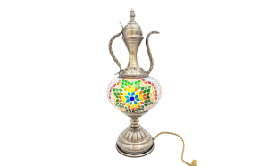 Veioza din mozaic colorat tip lampa