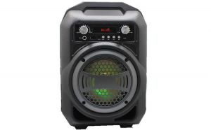 Boxa Activa Portabila Bluetooth, Soundvox™ BS-12, USB, TF/SD Card, Aux, Radio FM, Lumini, Neagra