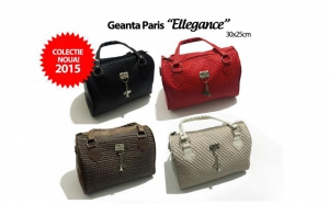 "Geanta dama Paris ""Ellegance"" din piele ecologica gofrata, model 2015, la 62 RON in loc de 139 RON"