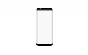 Folie Sticla Curbata Samsung Galaxy S8 Plus Flippy Full Face Negru