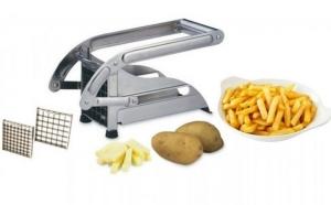 Feliator pentru cartofi pai din otel inoxidabil, bonus (cadou) – adaptor priza  usb