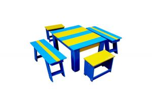 Set bicolor masuta cu scaunele si