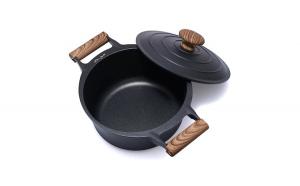 Semioala aluminiu + capac, Cooking by Heinner, Taste of Home by Chef Sorin Bontea, inductie, 24 x 11.5 cm, 4.5 L