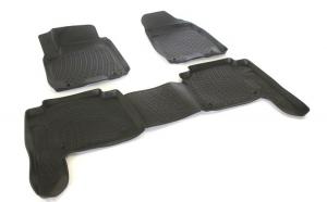 Covoare cauciuc stil tavita Nissan Patrol VI Y62 2010-> ( 3D 0291 -  A10 )