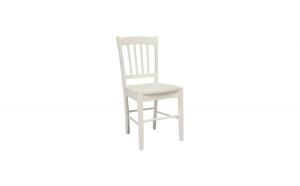 Scaun cu cadru din lemn, alb, fara