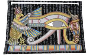 Tablou pictat manual pe hartie de papirus, lumineaza in intuneric, E128