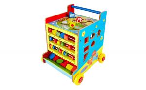Antepremergator lemn Montessori cub 8 in 1 ,cu activitati