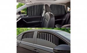 Set 4 x Parasolar auto retractabil pentru geamuri laterale, banda magnetica