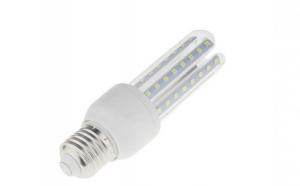 Bec LED SMD 9W Corn, din sticla, economic, Dulie E27 6500K, lumina rece, C111