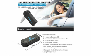 Adaptor car kit bluetooth - music receiver, handsfree - Aux 3.5 mm