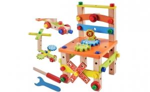 Centru activitati lemn Montessori, Ziua copilului, Jucarii de lemn