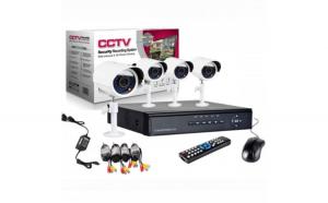 Sistem supraveghere CCTV kit DVR 4 camere exterior/interior