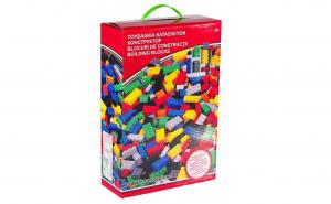 Set de constructie cu 800 piese multicolore