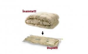 Pachet 5 saci parfumati pentru vidat haine dim 60 x 80 cm la 34 lei in loc de 69 lei.Depoziteaza inteligent hainele!
